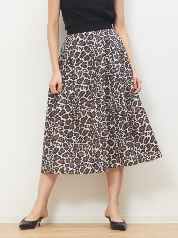 DESIGNWORKS (Ladie's) - レオパードプリントスカート