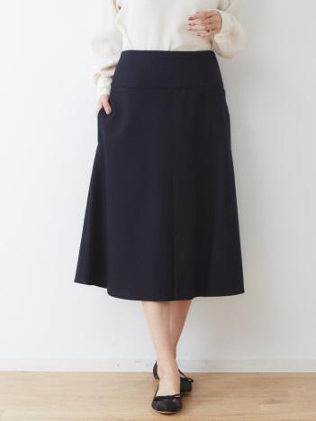 DESIGNWORKS (Ladie's) - ウール圧縮フロントスリットスカート
