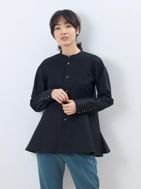 オックス×ピケスタンドカラーシャツ