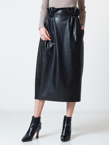 DESIGNWORKS (Ladie's) - フェイクレザースカート