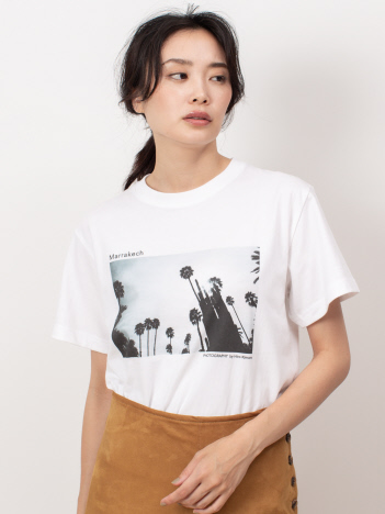 DESIGNWORKS (Ladie's) - Marrakech Majorelle Garden Tシャツ