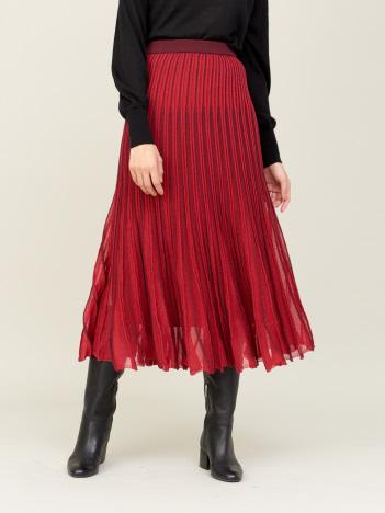 DESIGNWORKS (Ladie's) - boussole ラメ地プリーツ風スカート