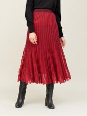 boussole ラメ地プリーツ風スカート