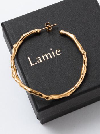 Lamie Melts ピアス L ゴールド