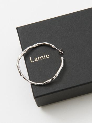 Lamie Melts ピアス L シルバー