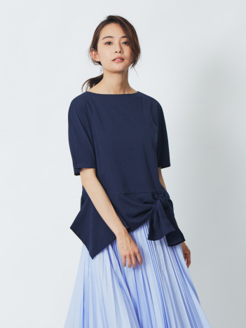 DESIGNWORKS (Ladie's) - 天竺裾フレア プルオーバーTシャツ