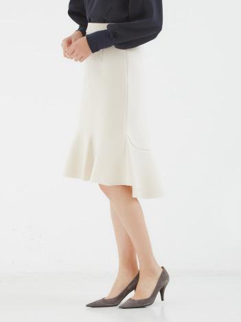 ミラノリブ裾フレアスカート