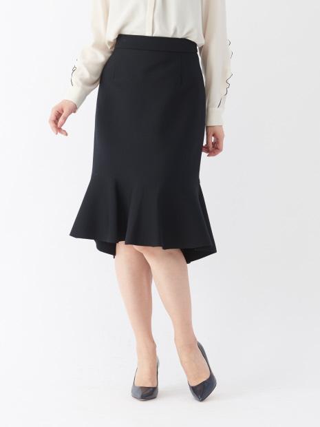 ミラノリブ裾フレアスカート【予約】