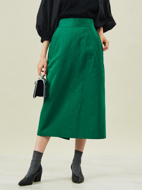 コットンシルク ツイルグログランスカート