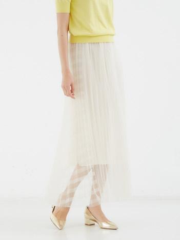 DESIGNWORKS (Ladie's) - ストライプチュールプリーツスカート