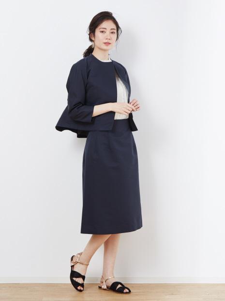 グログランAラインスカート