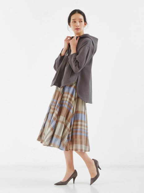 チェックオーガンジースカート