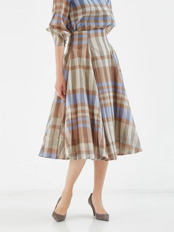 DESIGNWORKS (Ladie's) - チェックオーガンジースカート