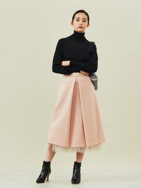 ダンボールフロントタックスカート(裾チュールスカート付)