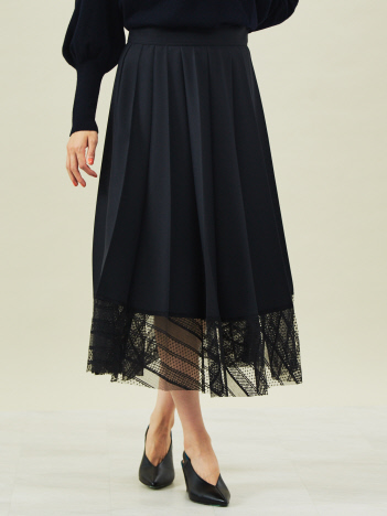 DESIGNWORKS (Ladie's) - 裾レースプリーツスカート