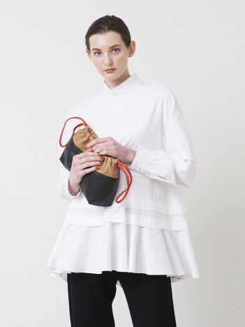 DESIGNWORKS (Ladie's) - スタンドペムラムシャツ【予約】