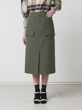 DESIGNWORKS (Ladie's) - コットン二重織アウトポケットスカート