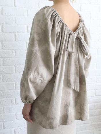 DESIGNWORKS (Ladie's) - WALANCE Tie dye gather blouse