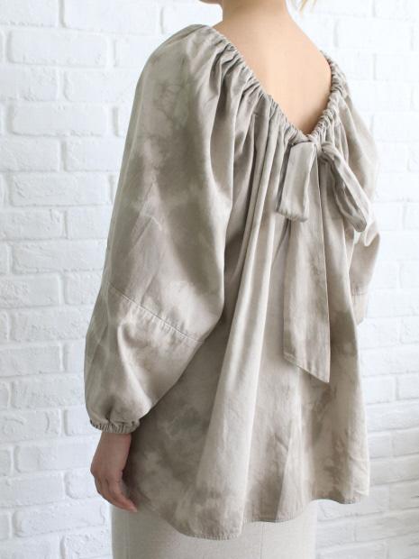 WALANCE Tie dye gather blouse