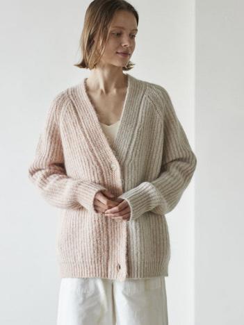 DESIGNWORKS (Ladie's) - WALANCE Nohair mix wool cardigan