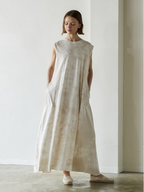WALANCE Tie dye jersey maxi dress