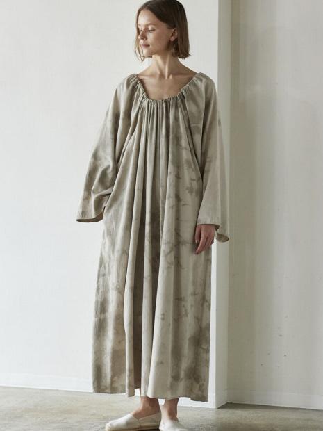 WALANCE Tie dye gather dress
