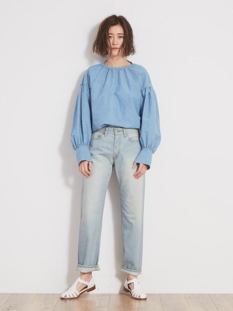クリスプインディゴシャツ