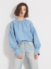 36 Quatre-Neuf - クリスプインディゴシャツ