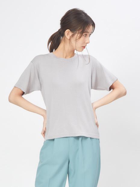 コットンシルクハイゲージニットTシャツ