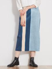 36 Quatre-Neuf - ウォーターカラーボックスススカート