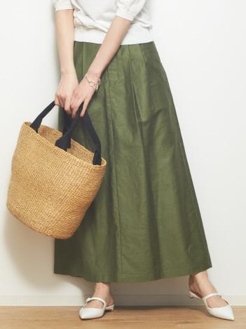 モールスキンクロップドスカート