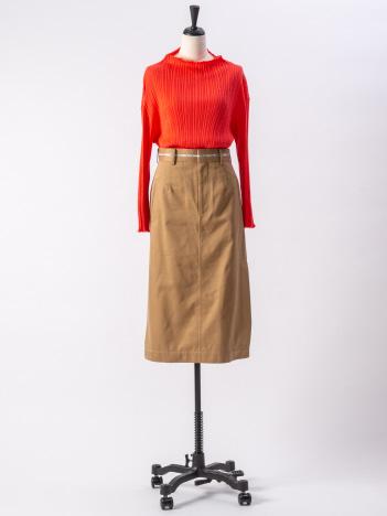 【beautifulpeople】セルヴィッチロゴチノサイドベンツスカート