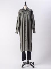 36 Quatre-Neuf - 【beautifulpeople】コットンシルクローンギャザーシャツドレス