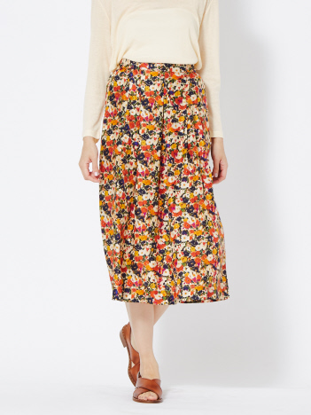 36 Quatre-Neuf - Roseannaマルチプリントスカート