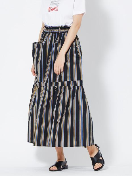 SOFIE D'HOORE SANLI-CORI ストライプスカート