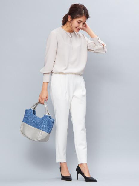 【販売店舗限定】SOEUR/切り替えくり手ミニトートバッグ
