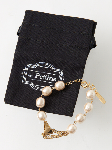 ★beq Pettina/パール金具ブレス