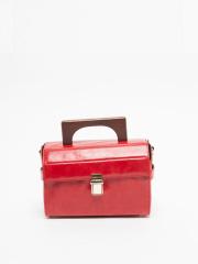 interstaple - Louise/ウッドハンドルボックスバッグ