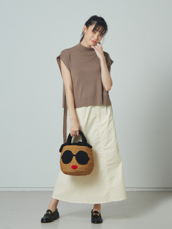 【再入荷】★a-jolie/サングラススマイルカゴバッグ