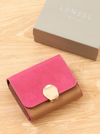 配色二つ折り財布