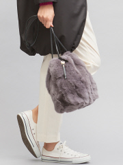 LOWELL Things - 人気のグレー再入荷!レッキスファー巾着バッグ