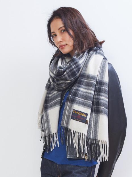★TWEEDMILL/大判チェックストール