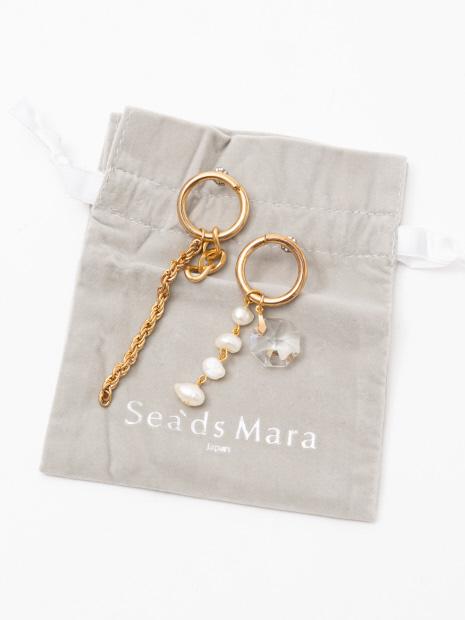 ★Sea`ds mara/パールガラスイヤリング