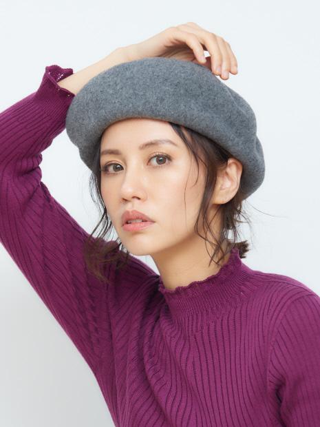 ウール ベレー帽