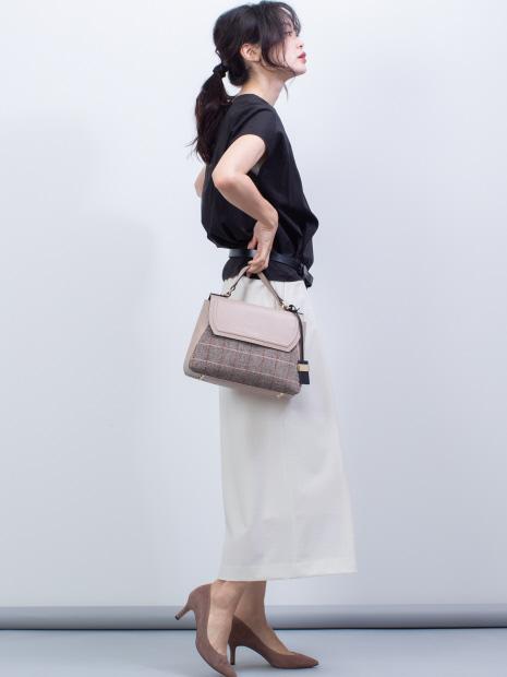 Betty/異素材コンビフラップショルダー【予約】