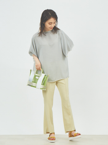 【2WAY】配色ビニールショルダー