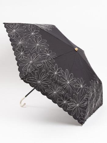 LOWELL Things - 【晴雨兼用】★折りたたみ傘/マーガレット裾刺繍