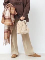 【秋冬新作】レッキスファー巾着バッグ