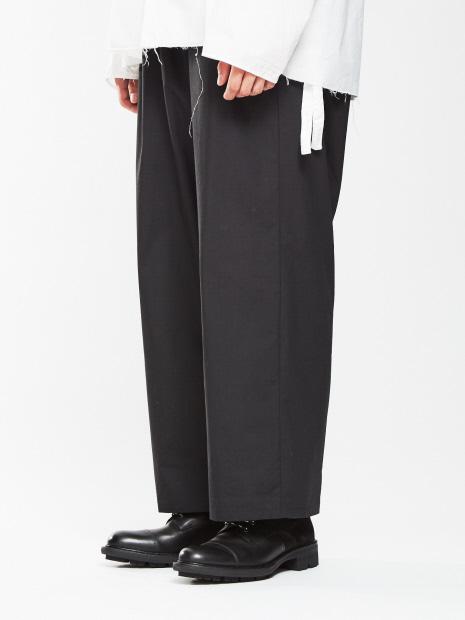 切替編み上げブーツ