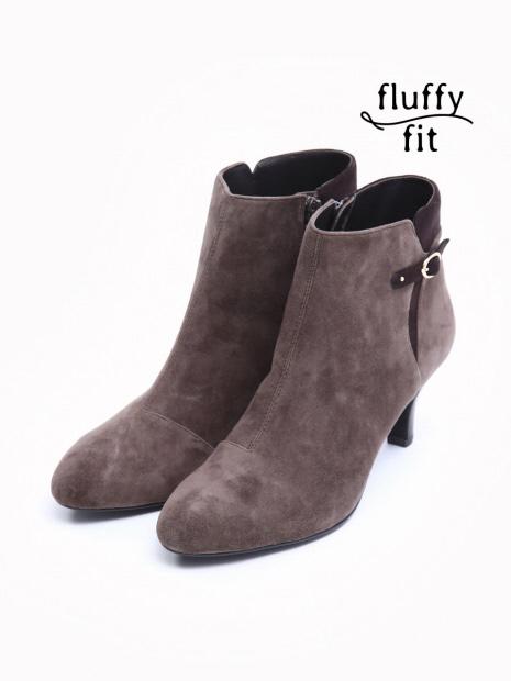 fluffy fitサイドベルトショートブーツ